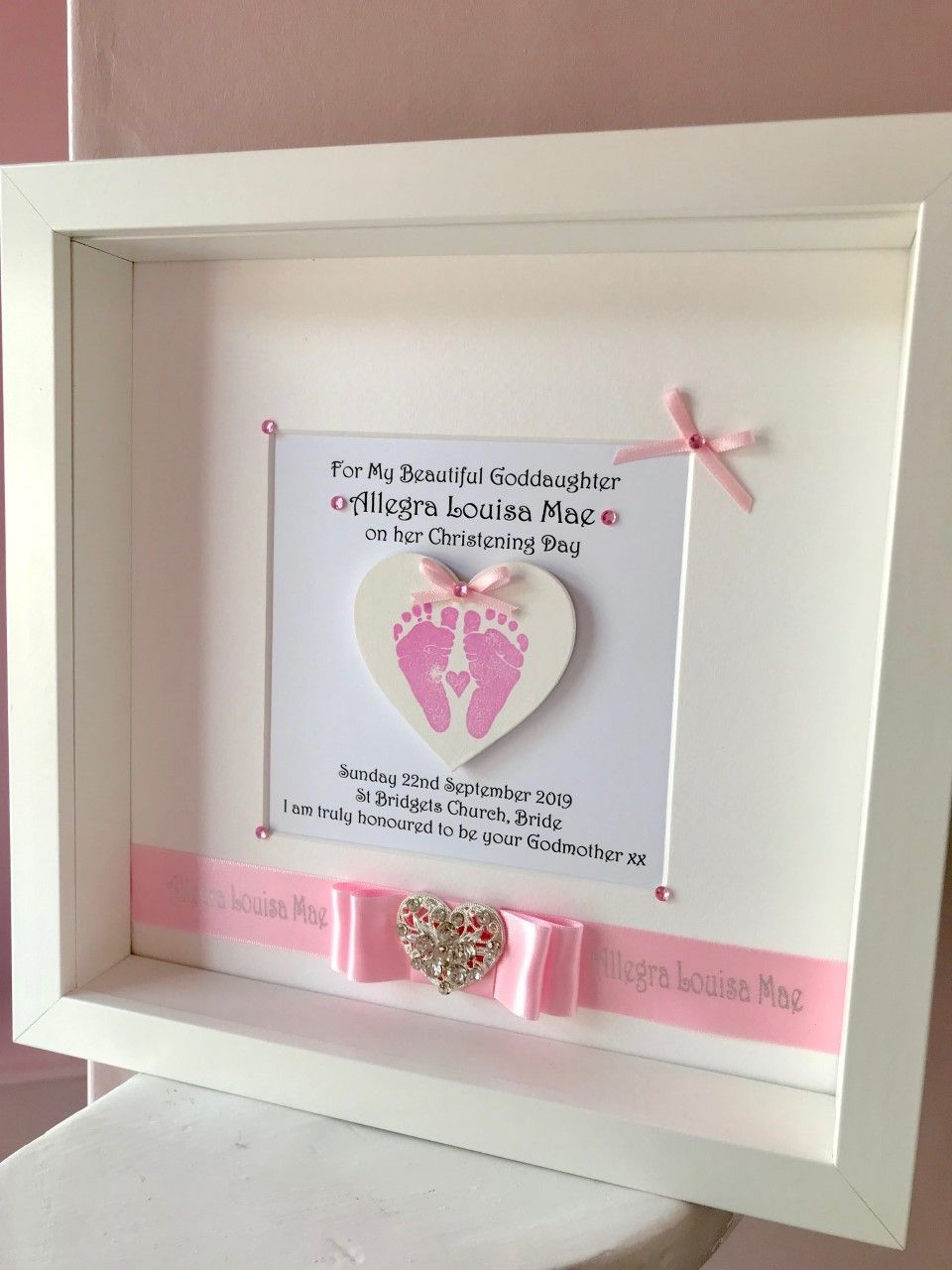 Personalised Goddaughter Christening Gift
